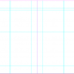 Zine template A4 grid
