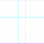Zine template A5 grid